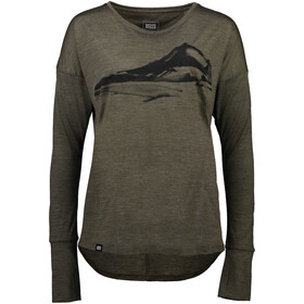 Mons Royale Estelle Relaxed LS Women olive